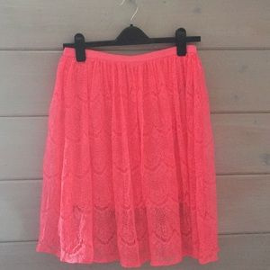 F21 Hot Pink Lace Skirt